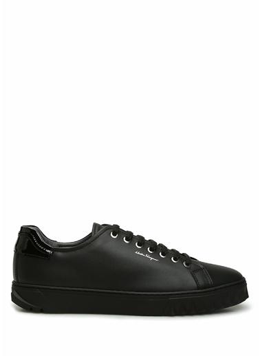 Salvatore Ferragamo Salvatore Ferragamo  n Detaylı Erkek Deri Sneaker 101623400 Siyah